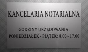 godziny otwarcia kancelarii notarialnej